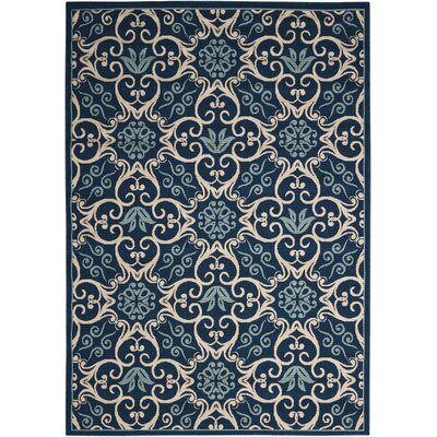 Carleton Navy Indoor/Outdoor Area Rug Rug Size: Rectangle 7'10