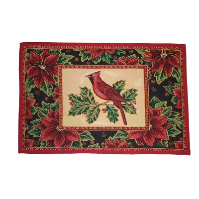 Anderson Cardinal Design Red Novelty Rug Rug Size: 17 x 23