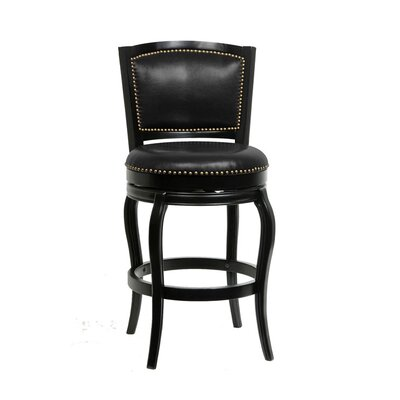 29 Swivel Bar Stool Upholstery: Black