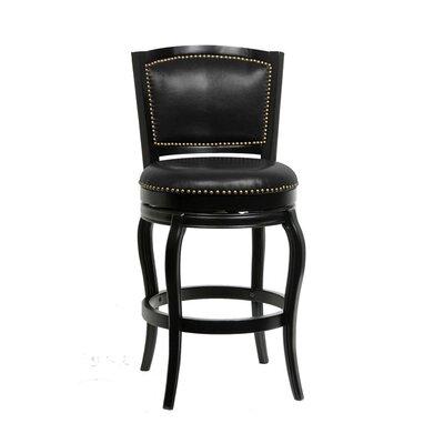 Fentress 29 Swivel Bar Stool Upholstery: Black
