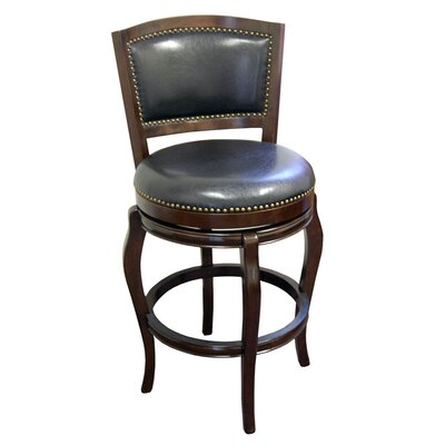 Fentress 29 Swivel Bar Stool Upholstery: Cappuccino