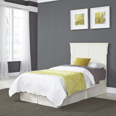 Clarke Panel Headboard Size: Twin, Color: White