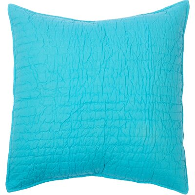 Hessville Cotton Throw Pillow Color: Teal