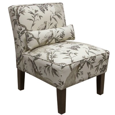 Thurston Uphosltered Slipper Chair Color: Grey Floral