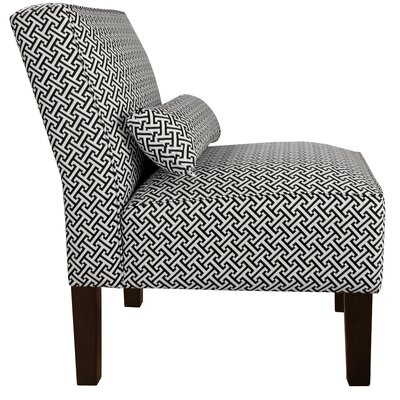 Thurston Slipper Chair Color: Licorice