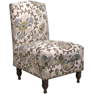 Thurston Slipper Chair Upholstery: Silsila Rhinestone, Nailhead Detail: Brass Nailhead