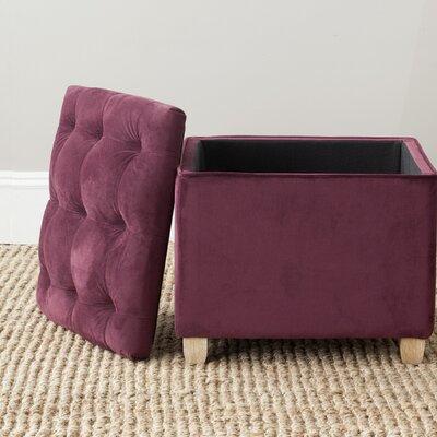 Eau Claire Ottoman Upholstery: Bordeaux