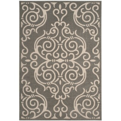 Prussia Gray/Cream Area Rug Rug Size: Rectangle 53 x 77