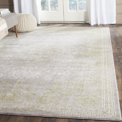 Auguste Gray/Green Area Rug Rug Size: 8 x 2