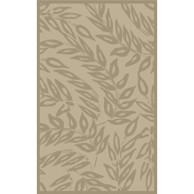 Breeze Tufted-Hand-Loomed Beige/Brown Area Rug Rug Size: Round 4