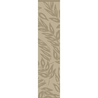 Breeze Tufted-Hand-Loomed Beige/Brown Area Rug Rug Size: Runner 23 x 8