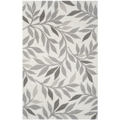 Charleston Tufted-Hand-Loomed Beige/Gray Area Rug Rug Size: 5 x 8