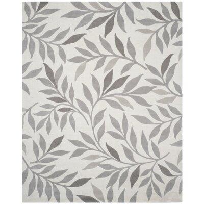 Charleston Tufted-Hand-Loomed Beige/Gray Area Rug Rug Size: 8 x 10