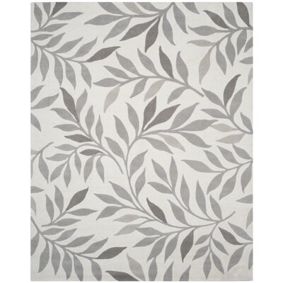 Charleston Tufted-Hand-Loomed Beige/Gray Area Rug Rug Size: 9 x 12