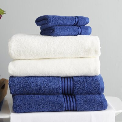 Parris 6 Piece Towel Set Color: Navy
