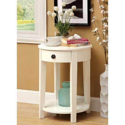 Sands Point End Table Finish: White