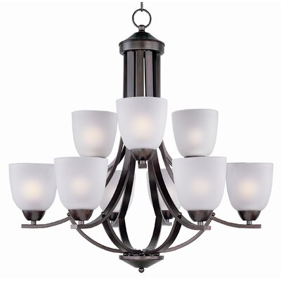 Hayden 9-Light Shaded Chandelier Finish: Oil Rubbed Bronze