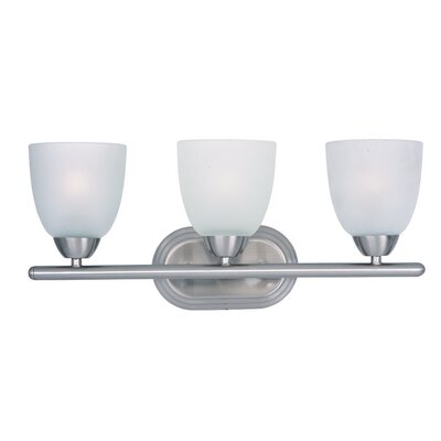 Malden 3-Light Vanity Light Finish: Satin Nickel