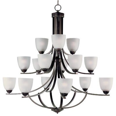 Hayden 15-Light Shaded Chandelier Finish: Oil Rubbed Bronze