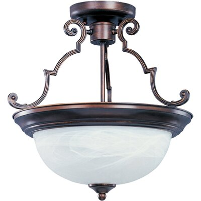 Avis 3-Light Semi-Flush Mount Finish: Oil Rubbed Bronze