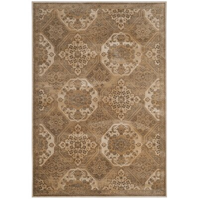 Pitcairn Brown/Cream Area Rug Rug Size: Rectangle 33 x 57