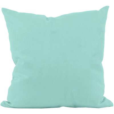 Georgia Outdoor Throw Pillow Color: Aqua, Size: 18 H x 18 W x 1 D