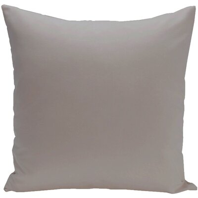 Eastvale Solid D�corative Outdoor Pillow Color: Classic Gray, Size: 16 H x 16 W x 1 D