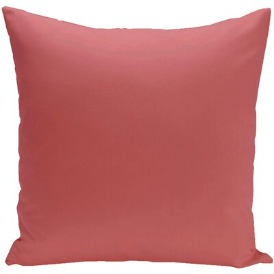 Georgia Outdoor Throw Pillow Color: Coral, Size: 16 H x 16 W x 1 D