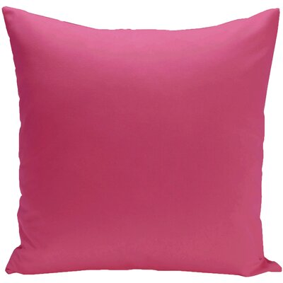Eastvale Solid D�corative Outdoor Pillow Color: Fushia, Size: 16 H x 16 W x 1 D