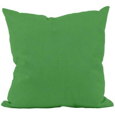 Eastvale Solid D�corative Outdoor Pillow Color: Leaf, Size: 16 H x 16 W x 1 D