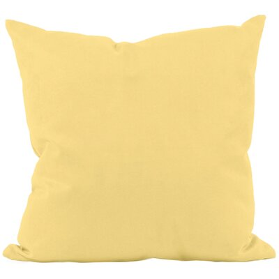 Eastvale Solid D�corative Outdoor Pillow Color: Lemon, Size: 16 H x 16 W x 1 D