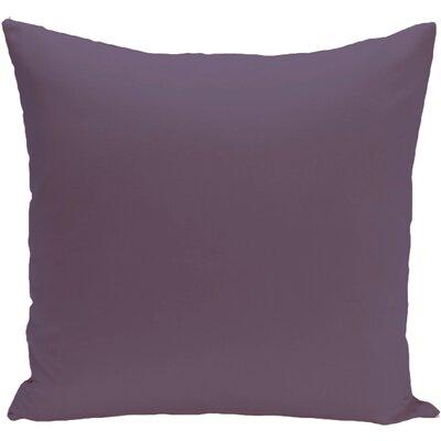 Eastvale Solid D�corative Outdoor Pillow Size: 20 H x 20 W x 1 D, Color: Purple Rain