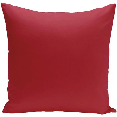 Eastvale Solid D�corative Outdoor Pillow Color: Red, Size: 16 H x 16 W x 1 D