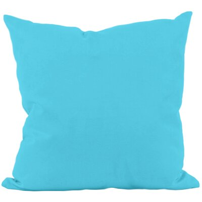 Georgia Outdoor Throw Pillow Color: Turquoise, Size: 16 H x 16 W x 1 D