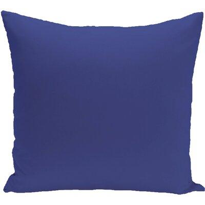 Eastvale Solid D�corative Outdoor Pillow Color: Blue Suede, Size: 16 H x 16 W x 1 D