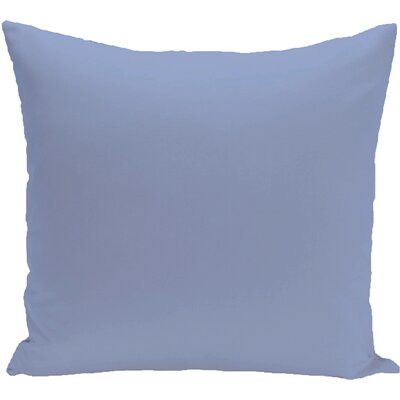 Eastvale Solid D�corative Outdoor Pillow Size: 20 H x 20 W x 1 D, Color: Cornflower