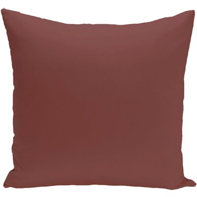 Georgia Outdoor Throw Pillow Color: Mahogany, Size: 20 H x 20 W x 1 D