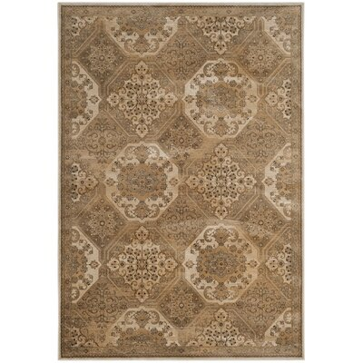 Pitcairn Brown/Cream Area Rug Rug Size: Round 6