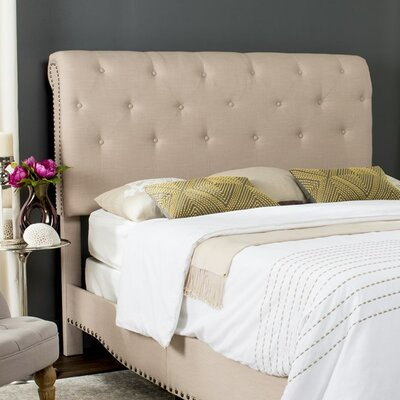 Hathaway Upholstered Platform Bed Upholstery: Light Grey, Size: Queen