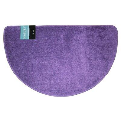 Arata Slice Bath Rug Color: Purple