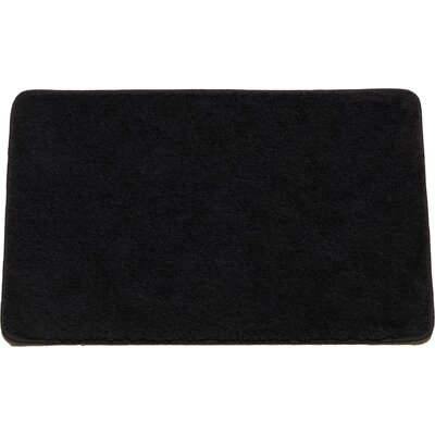 Arata Rectangle Bath Rug Color: Black