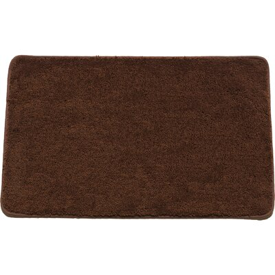 Arata Rectangle Bath Rug Color: Chocolate