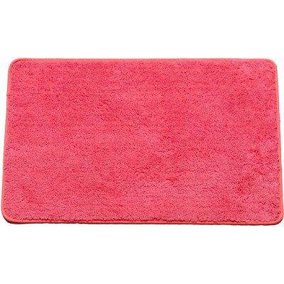 Arata Rectangle Bath Rug Color: Fuchsia