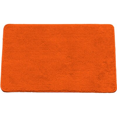 Arata Rectangle Bath Rug Color: Orange
