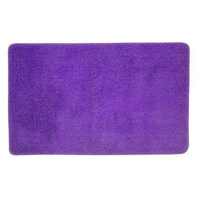 Arata Rectangle Bath Rug Color: Purple