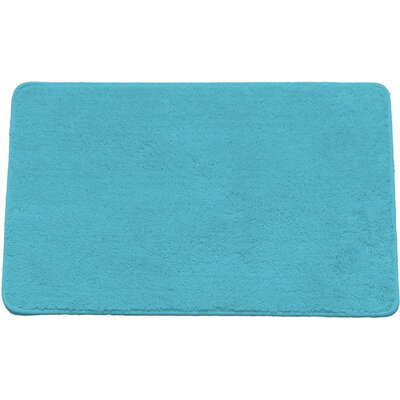 Arata Rectangle Bath Rug Color: Turquoise