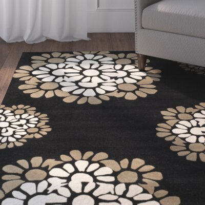 Martha Stewart Hand-Tufted Black Area Rug Rug Size: Runner 23 x 10
