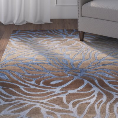Bovingdon Hand-Woven Blue/Brown Area Rug