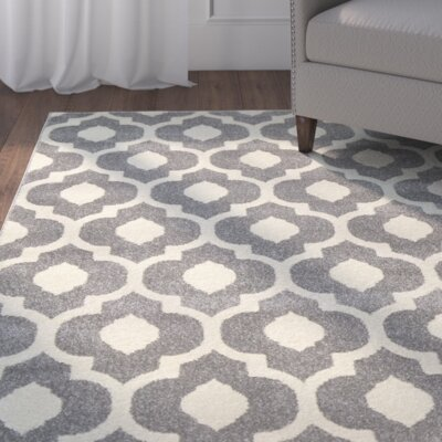 Oak Knoll Ivory/Light Grey Area Rug Rug Size: 2 x 3