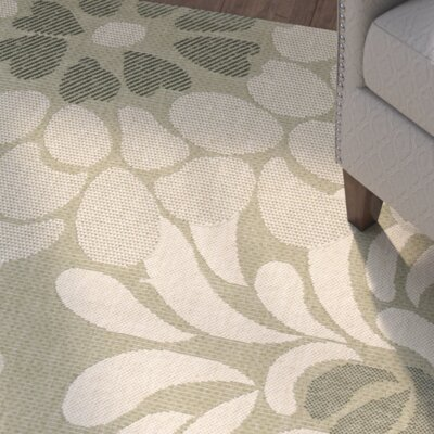 Rockbridge Cream/Green Area Rug Rug Size: 7'10 x 10'
